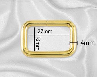 """50pcs - 1"""" Metal Square Ring - Gold (SQUARE RING SRG-110)"""