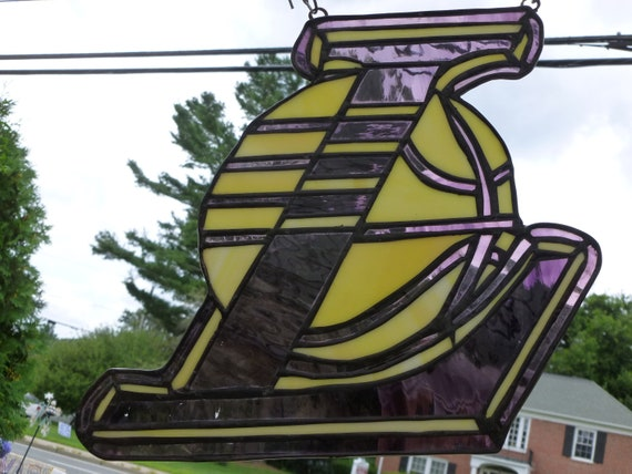 NBA Los Angeles LA Lakers inspired Stained Glass