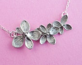 Beautiful Orchid Floral Necklace - Bridesmaid bridal flower necklace  (R4B)
