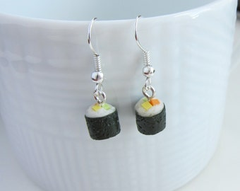 Sushi Roll Dangle Earrings