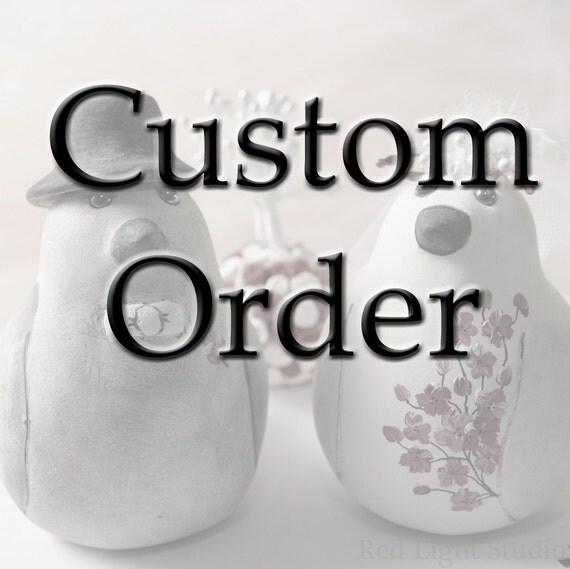Custom Order Wedding Cake Topper -- For ishani