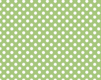 Riley Blake Small Dots C350-30 Green 1/2 yard