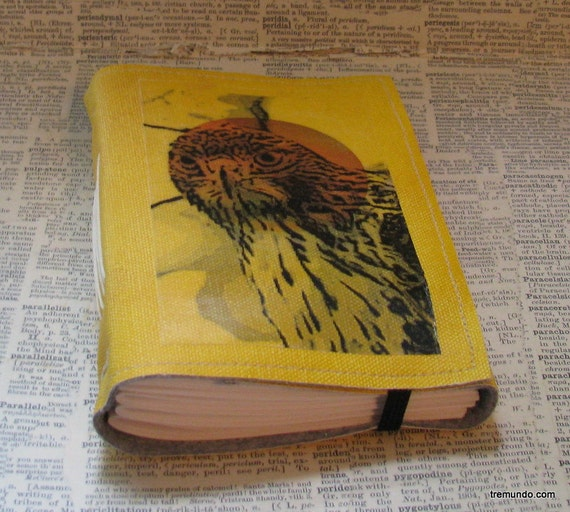 watchful hawk tri fold blank journal