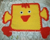 Crochet Quackers The Baby Duck Snuggle/Security/Lovey Blanket PDF Pattern