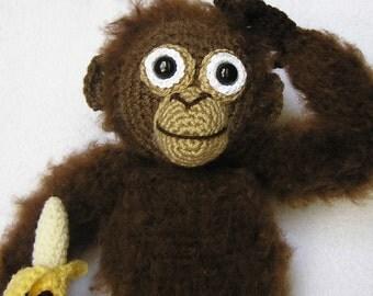 PDF Crochet Pattern BABY ORANGUTAN