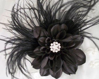 The Black Dahlia Hair Clip Fascinator