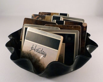 AMERICA recycled Holiday album cover coasters with wacky bowl