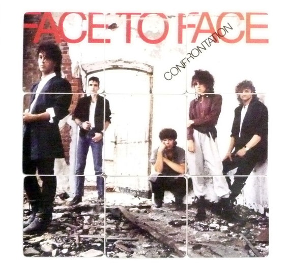 FACE TO FACE recycled Confrontation album coasters with record bowl