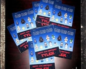Star Wars Coloring Party Pack-- SET of 10 coloring mini books 4x5 size-- 9 characters to color & front page personalized
