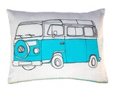 SALE - Blue Campervan Cushion / Pillow