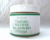 Clapham's Beeswax Salad Bowl Finish, 50 gram jar, edible wood finish, beeswax wood finish, wood polish, wood sealer