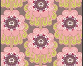 Art Gallery Fabric - Modernology Collection - Contempo Blooms in Warm - 1 Yard