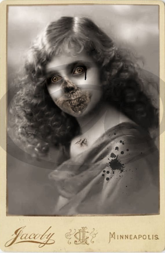 Victorian Zombies - Printable Digital Images INSTANT DOWNLOAD for Altered Art, tags, cards, and other creative projects - JPG Sheet