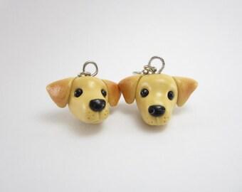 Labrador Dog Earrings Labrador jewelry Labrador gifts dog earrings jewelry polymer clay yellow lab miniature animal dog lover gift retriever