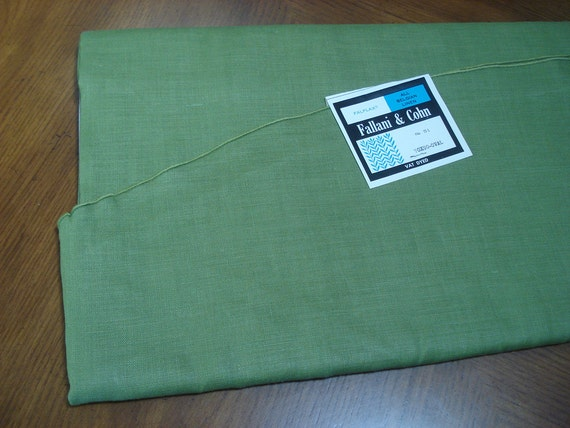 Thick avocado green linen tablecloth - new with tag