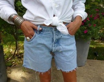 Vintage 1980s Calvin Klein Custom Cutoffs with Leopard Patches High Waisted Vintage Denim