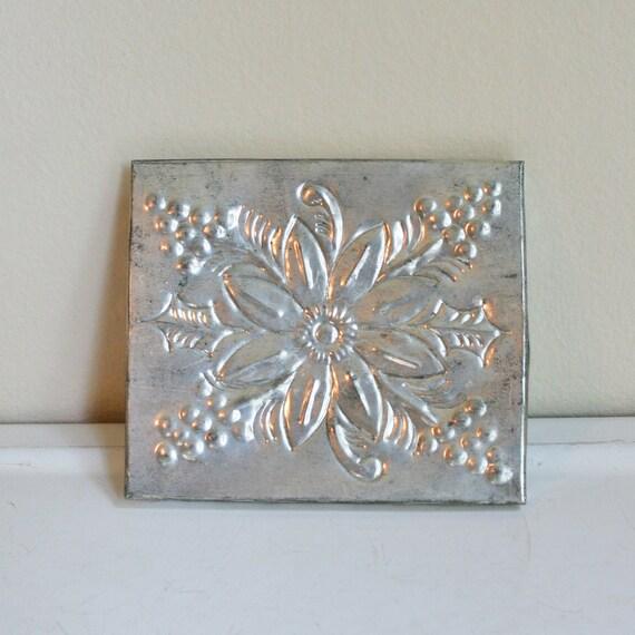 Small Silvertone Decorative Tin