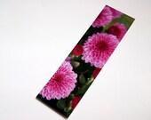 SALE - Pink Chrysanthemums Photo Bookmark