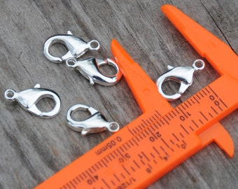 Sterling Silver Plated lobster claws 15mm