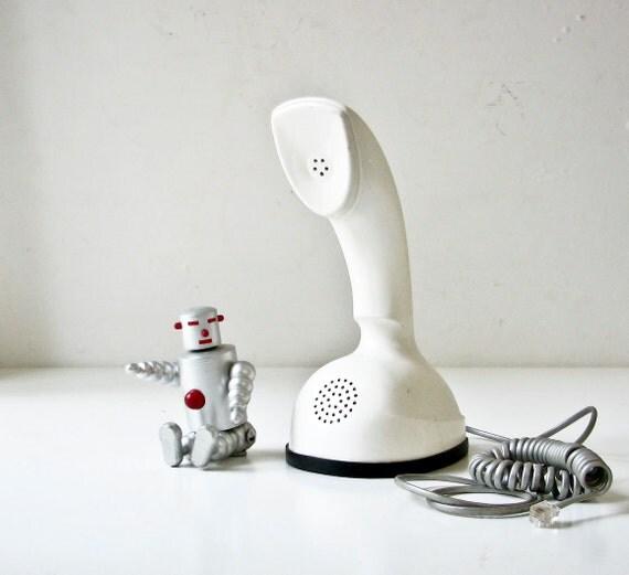 Mid Century Modern White Phone