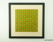 Yellow Green and Brown Weave Large Origami Tessellation