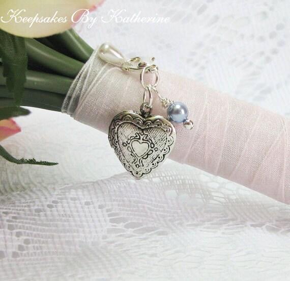 Bridal Bouquet Heart Locket