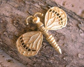 Dragonfly Vintage Pin with Movable Wings