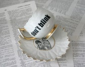 Golden Flower Weeping Angel Don't Blink Teacup