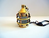 Brass Charm For Your Purse or Bag, Lantern Bag Charm, Nautical Accessory, Steampunk Charm