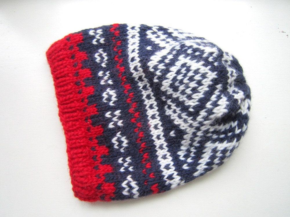 Slouchy Nordic Winter Hat PDF knitting pattern