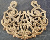 Brass Filigree Necklace Pendant Backing 1405 - 3 Pieces