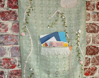 """Wall Hanging """"My Flat in Paris"""" Home Decor, Handmade,Textile, Mail - Cottage Chic, French Country"""