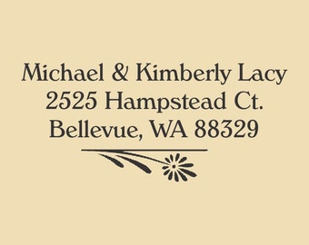 Michael & Kimberly Traditional Rubber Stamp Design R041