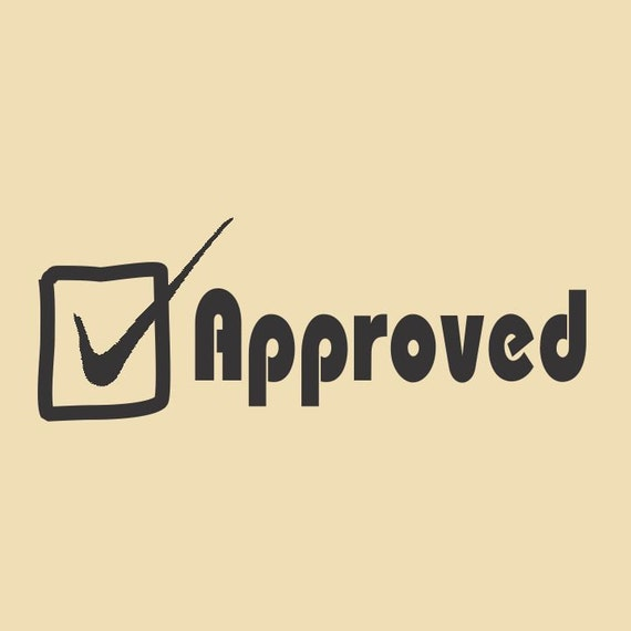 Checked Approved Done Ready to Ship Rubber Stamp RTS 009