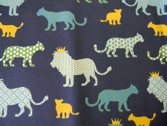 LAST ONE Fat Quarter - Lions - Urban Circus II Fabric