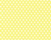 One (1) Yard - Kiss Dot Fabric by Michael Miller Fabrics CX5518-YELL-D