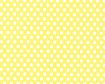 Two (2) Yards - Kiss Dot Fabric by Michael Miller Fabrics CX5518-YELL-D