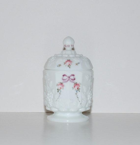Vintage Westmoreland Milk Glass Jar