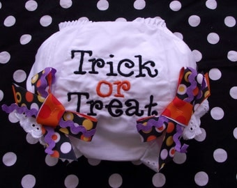 Trick or Treat Halloween Bloomers with Bows
