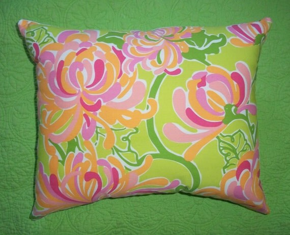 New Pillow Made with Lilly Pulitzer La Te Dah fabric
