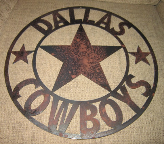 Dallas Cowboys Welcome Home Sign: Dallas Cowboys Metal Art Sign