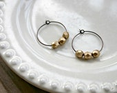 Simple Hoops - Matte Gold
