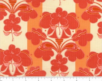 CLEARANCE 2 YARDS FABRIC Bouquet Stripe by Out Front
