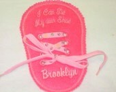 Girls Felt Personalized Learn to Tie Your Shoe Great Educational learning toy