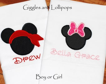 Personalized Disney mickey pirate pillowcase autograph pillowcase