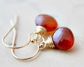 Garnet Earrings, Garnet Jewelry, January Birthstone, Gold Earrings, Drop Earrings, Birthstone Earrings, Gemstone Jewelry, Dangle Earrings