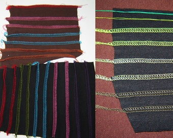 Swatches with Stitching