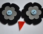 Ollie Owl Hat - Eyes and Beak Kit - Midnight Blue and Grey