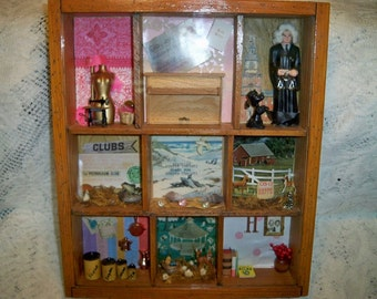 SALE! Vintage 1960s Corpus Christi Texas Community Shadow Box