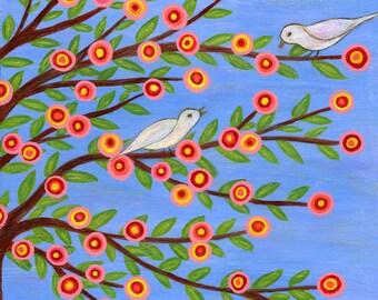 Bird Art Print, Birds Large Art Print Giclee Print for Home decor